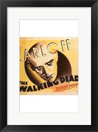 Framed Walking Dead Karloff Print