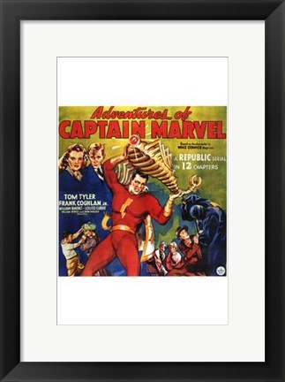 Framed Adventures of Captain Marvel - style C Print