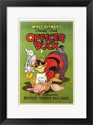 Framed Officer Duck Print