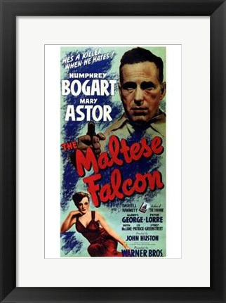 Framed Maltese Falcon Print