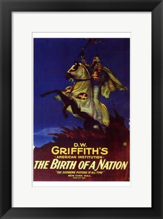 Framed Birth of a Nation D.W. Griffith Print