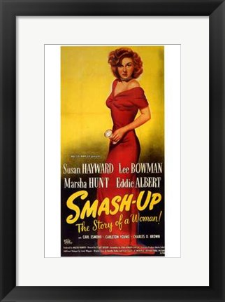 Framed Smash Up  the Story of a Woman Print