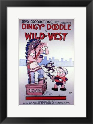 Framed Wild West Print