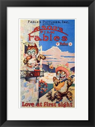 Framed Love At First Sight Print