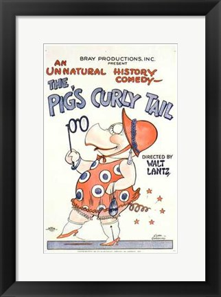 Framed Pig's Curly Tail Print