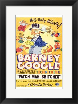 Framed Patch Mah Britches Print
