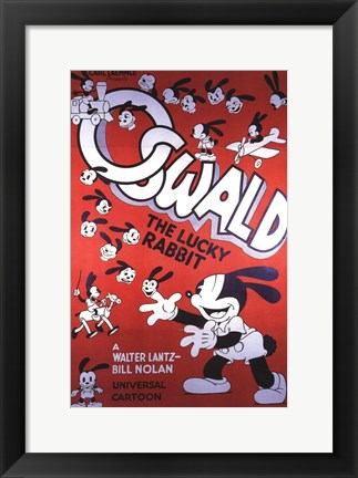 Framed Oswald the Lucky Rabbit Print