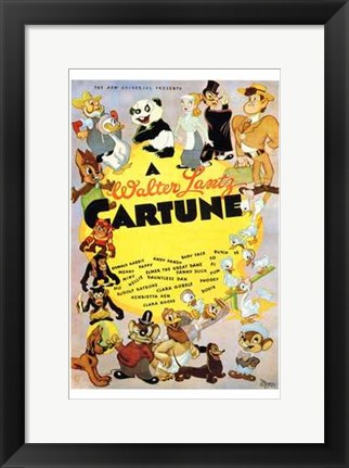Framed Walter Lantz Cartune  a (characters) Print