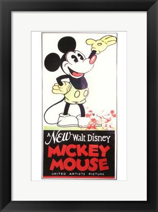 Framed New Walt Disney Mickey Mouse Print