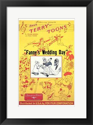 Framed Fanny's Wedding Day Print