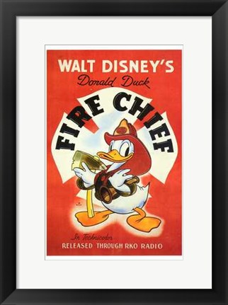 Framed Fire Chief Print