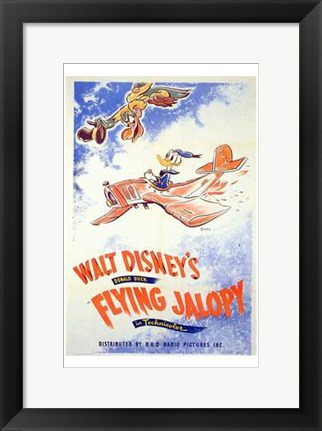 Framed Flying Jalopy Print