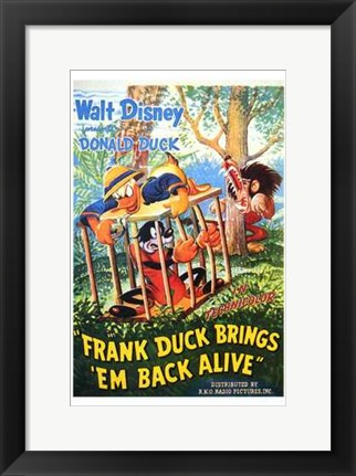 Framed Frank Duck Brings 'Em Back Alive Print