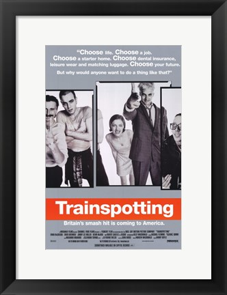 Framed Trainspotting - characters Print