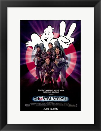 Framed Ghostbusters 2 Cast Print