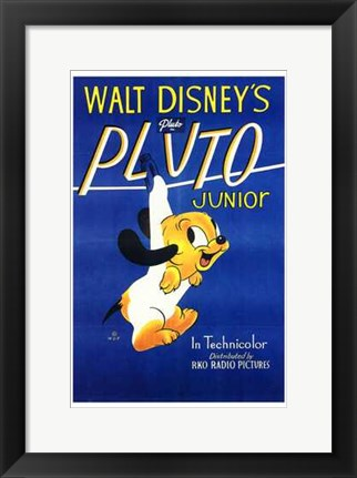 Framed Pluto Junior Print