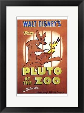 Framed Pluto At the Zoo Print