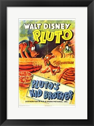 Framed Pluto's Kid Brother Print