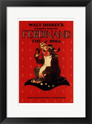 Framed Ferdinand the Bull Print