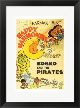 Framed Bosko and the Pirates Print