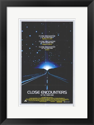 Framed Close Encounters of the Third Kind Road Print