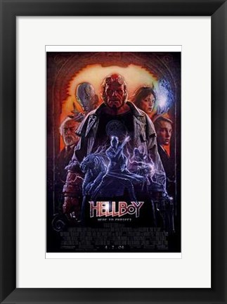 Framed Hellboy Superhero Print