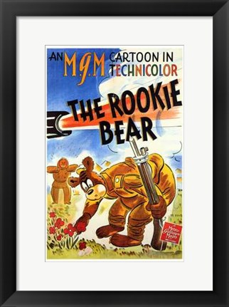 Framed Rookie Bear Print