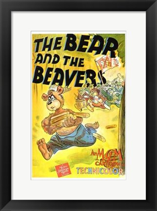 Framed Bear and the Beavers Print