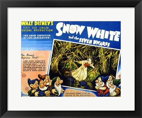 Framed Snow White and the Seven Dwarfs Screen's Supreme Thrill Print