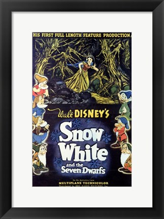 Framed Walt Disney's Snow White and the Seven Dwarfs Print