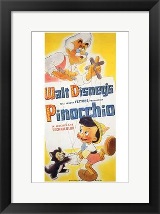 Framed Pinocchio Geppetto Print