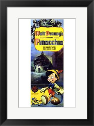 Framed Pinocchio Tall Print