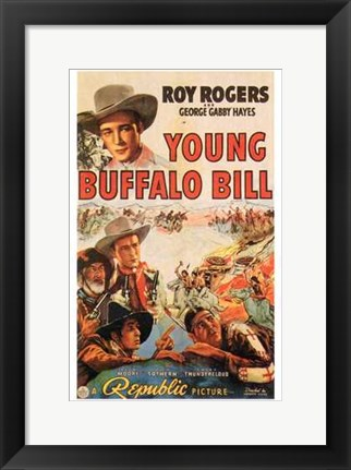Framed Young Buffalo Bill Print