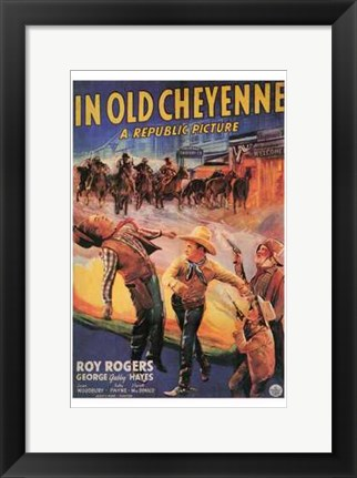 Framed in Old Cheyenne Print