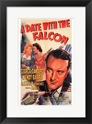 Framed Date with the Falcon Print