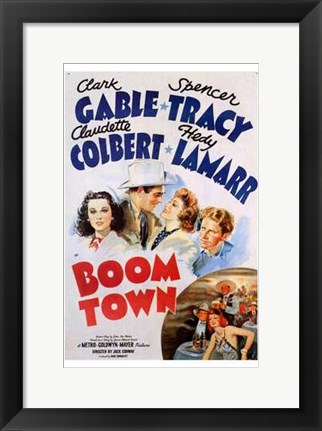 Framed Boom Town Print