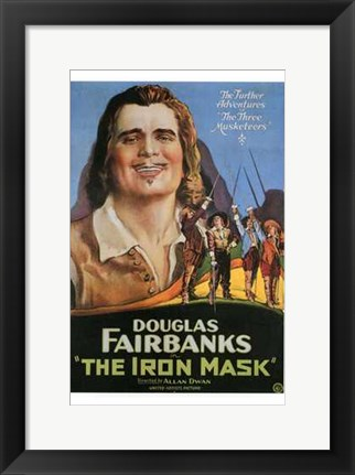 Framed Iron Mask - man smiling Print
