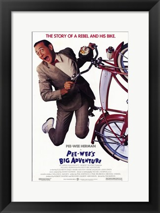 Framed Pee-Wee's Big Adventure Print