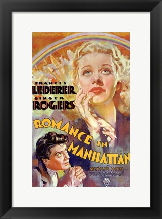Framed Romance in Manhattan Print