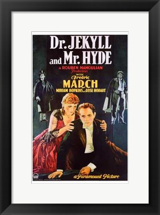 Framed Dr Jekyll and Mr Hyde Fredric March Print