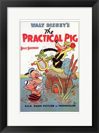 Framed Practical Pig Print