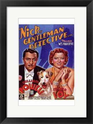 Framed After the Thin Man - Nick Print