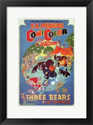 Framed Three Bears Print