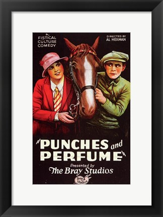 Framed Punches and Perfume Print