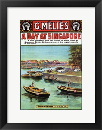 Framed Day At Singapore Print