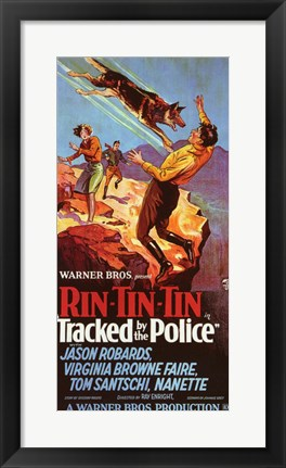 Framed Tracked By the Police Print