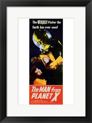 Framed Man from Planet X Print