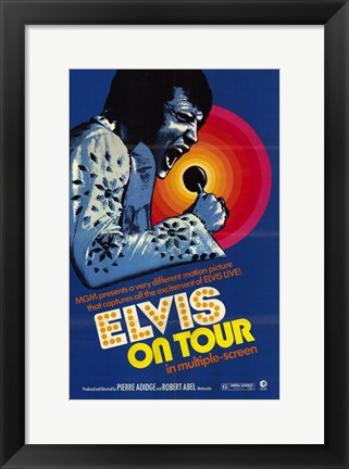 Framed Elvis on Tour Print