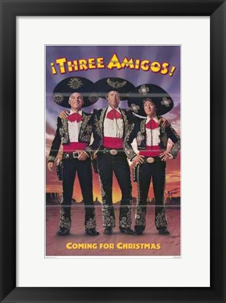 Framed Three Amigos (movie poster) Print