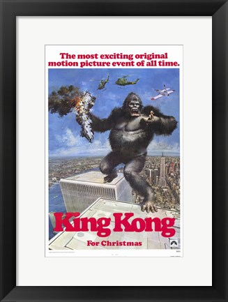 Framed King Kong for Christmas Print